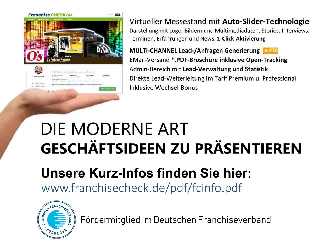 FranchiseCHECK.de - das Franchiseportal mit Franchisedirekt-Aufruf